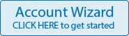 blue account wizard button