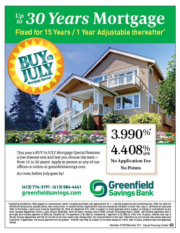 Image of Buy in July flier with 3.990% rate and 4.408% APY.