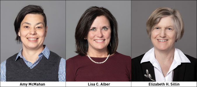Three New Greenfield Savings Bank Directors: Amy McMahan, Lisa C. Alber, and Elizabeth H. Sillin.